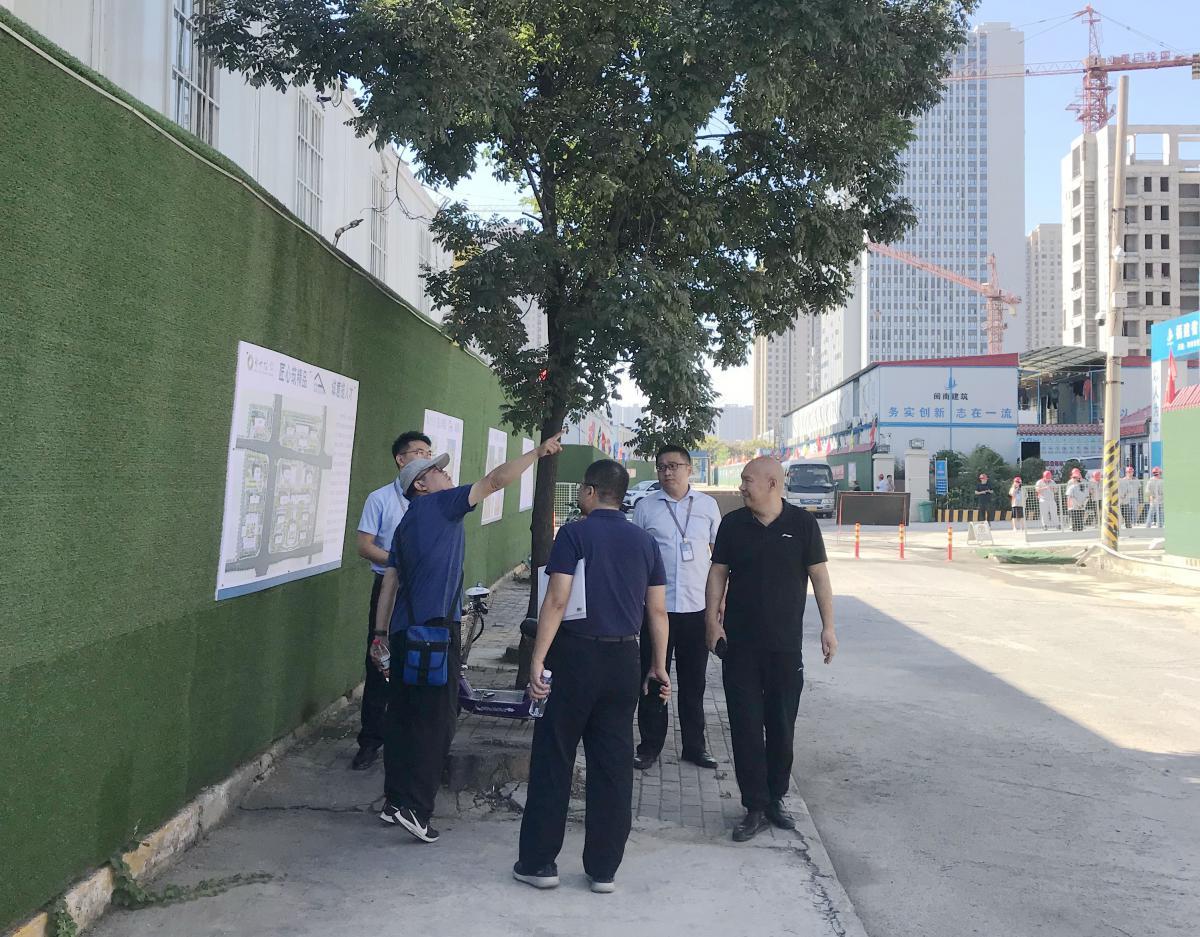 物业公司考察青年人才公寓建设情况