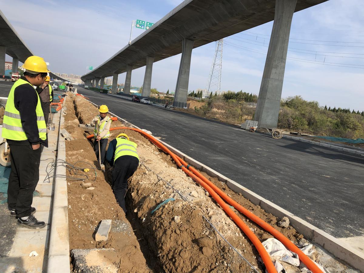 西四环快速化工程一标孔河桥段具备通车条件