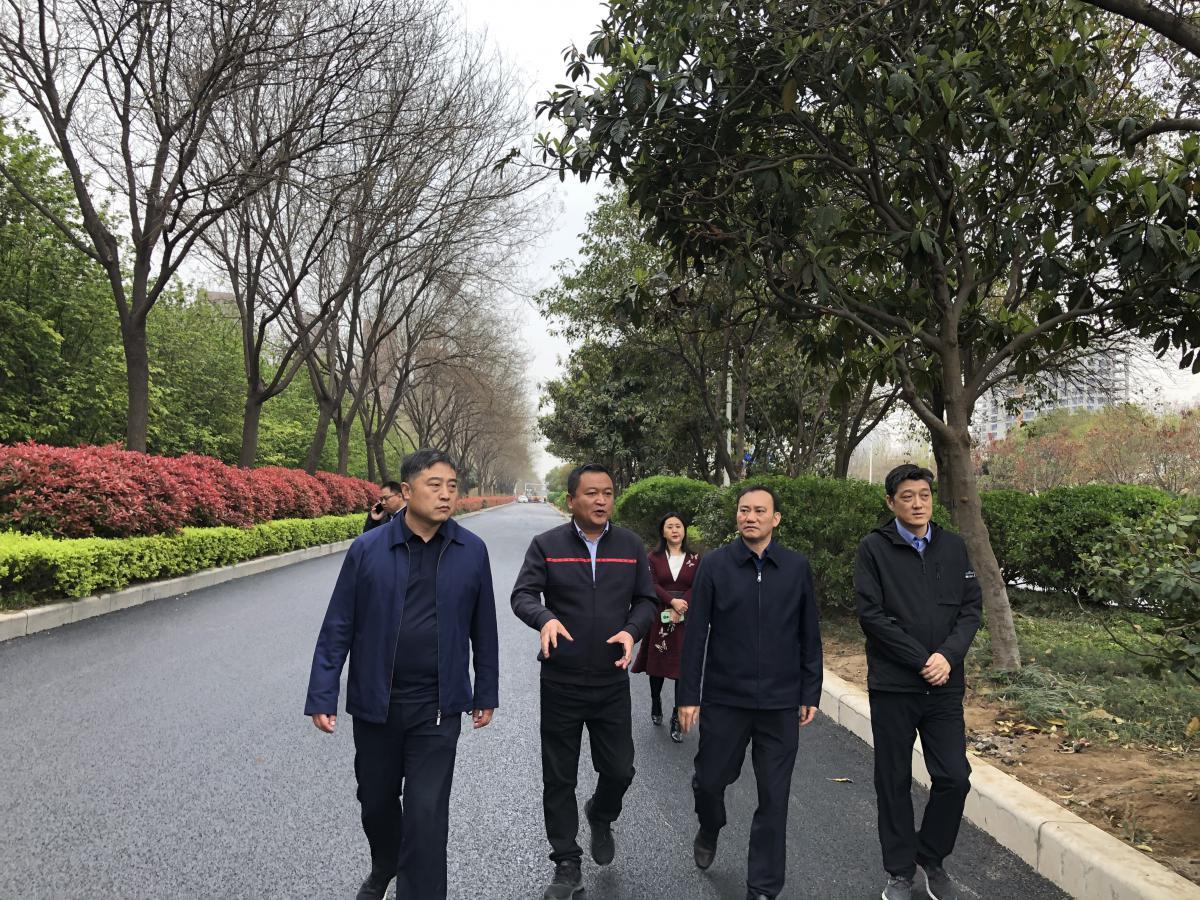 副市长陈宏伟视察商都路道路提质工程